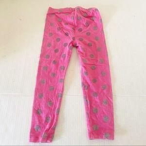 GAP pink polka dot leggings